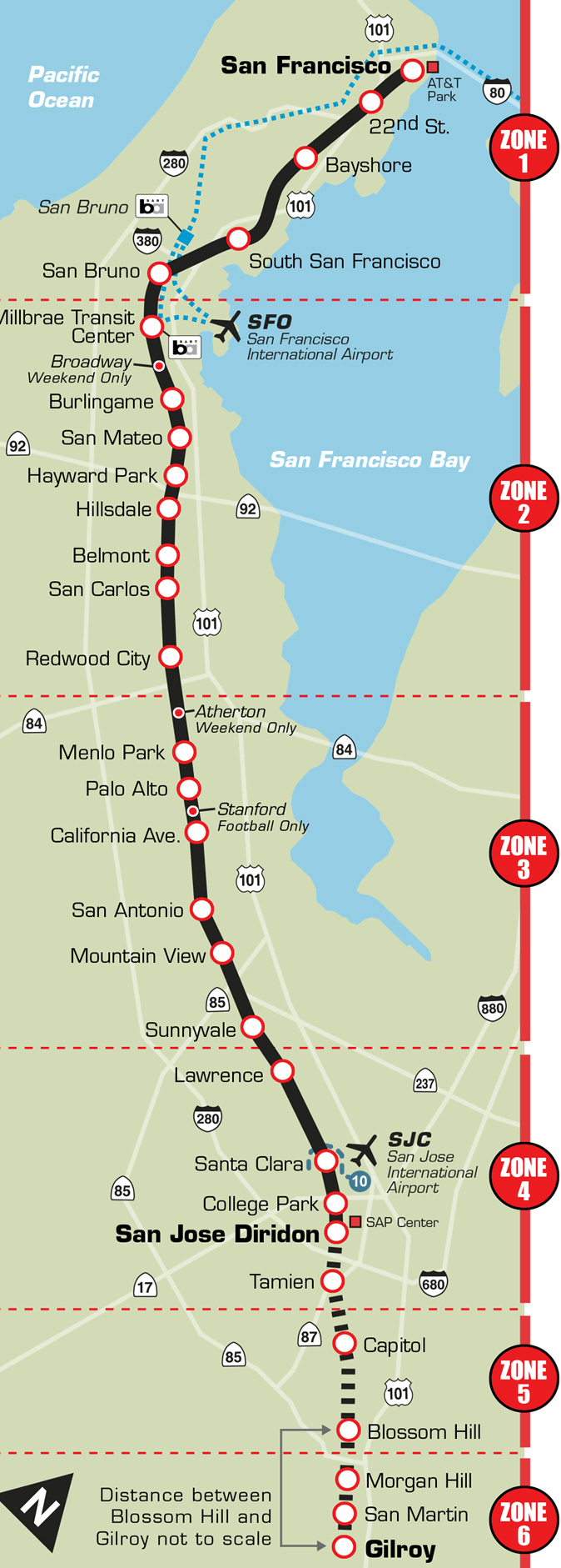 caltrain vs san francisco bart  faq  hotels near san francisco  - caltrainofficalthumb